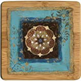Bamboo Drink Coaster Set Exotic Medallion II Set of 4
