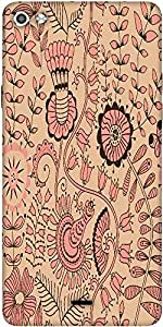 Snoogg Seamless Texture With Flowers And Butterflies Endless Floral Pattern Designer Protective Back Case Cover For Micromax Canvas Silver 5 Q450
