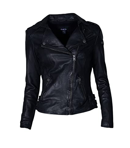 Damen TIGHA Lederjacke Alexandra in Schwarz - black