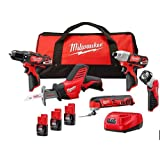 Milwaukee 2499-25p m12 12v 5 tool combo kit with 3rd Free battery