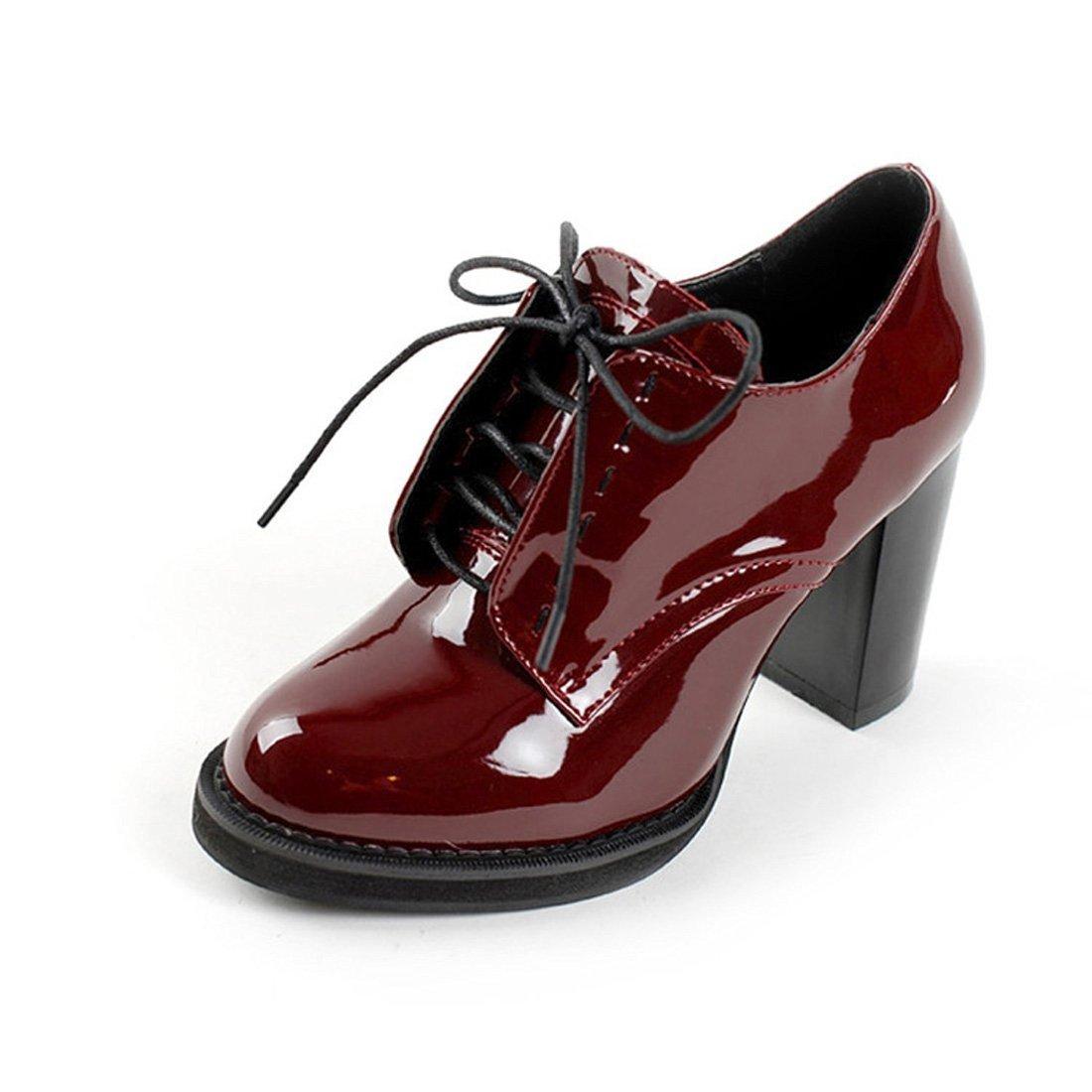 Women S Oxford Patent Faux Leather Dress Shoes
