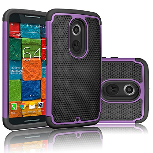 Moto X (2nd Gen) Case, Tekcoo(TM) [Tmajor Series] [Purple ...
