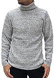 (ルイシャブロン) Louis Chavlon ニット メンズ タートルネック セーター 杢 リブ編み 4color L ミディアムグレー