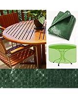 Housse de protection casa pura® pour tables de jardin rondes   imperméable et résistant   stabilisé UV   taille 125x81cm