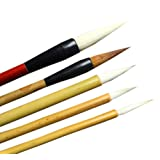 UE STORE Chinese Paint Brush Set 5 Pcs Ink Painting Brushes
