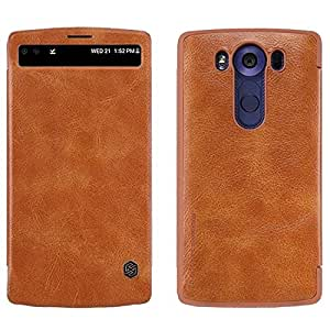 Nillkin Qin Series Leather Flip Case Cover for LG V10 - Brown