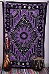 Purple Burning Sun Tapestry, Celestia…