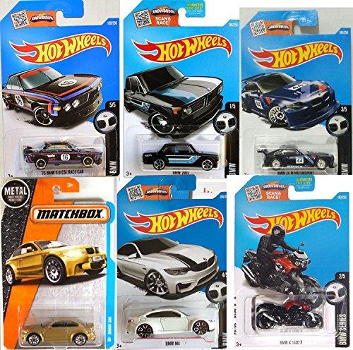 hot-wheels-bmw-2016-collection-m-series-gold-matchbox-m1-white-m4-z4-2002-black-k-1300-r-motorcycle-