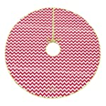 48 Inch Red and White Chevron Christm...