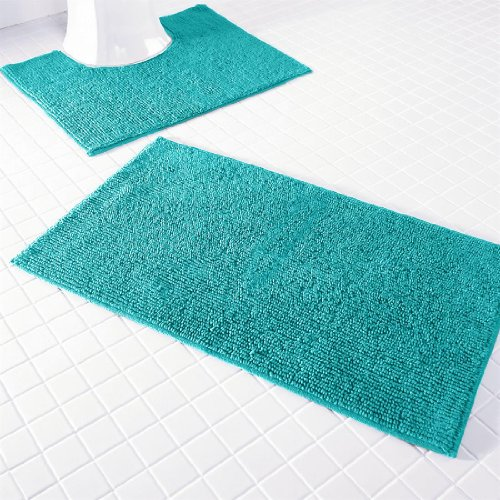 Lastest Traverse Reversible Teal Bath Rug  Crate And Barrel