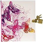 Pagna Tagebuch Pink Butterfly mit Sch...