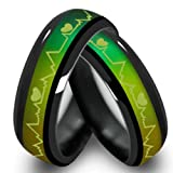 Anyasun Titanium Steel Rings Color Change Mood Rings Emotional Color Change Temperature Feeling Band Rings for lovers (11)