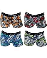 4er Pack Herren Retroshorts Boxershorts Sixty Style 4 verschiedene Farben