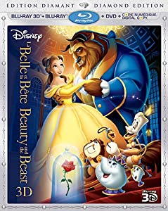Beauty and the Beast (version française) [Blu-ray 3D + Blu-ray + DVD + Digital Copy] (Sous-titres français)