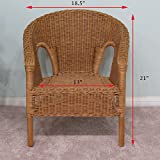 Real Authentic Wicker Stacking Chair for Kid Children (Set of 2) Honey Finish