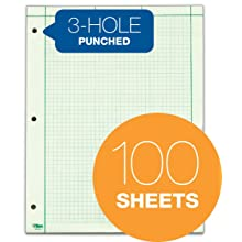 TOPS Engineering Computation Pad, Quad Rule, Letter Size, Green Tint, 100 Sheets per Pad (35500)
