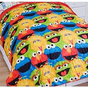 Sesame Street Chalk 2pc Twin Comforter Pillow Sham Set