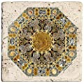 Thirstystone Ambiance Travertine Coaster, Multicolored, Tabletop I