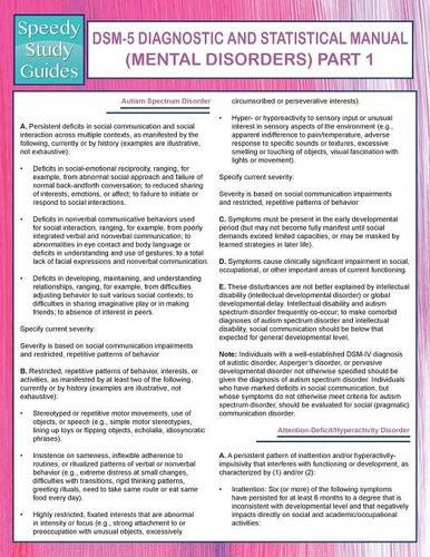 dsm-5-diagnostic-and-statistical-manual-mental-disorders-part-1-speedy-study-guides