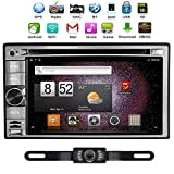 TOCADO Car Radio Android 4.4 Stereo with Free Wireless Rear Parking Camera Car DVD Player GPS Navi In Dash Navigation Headunit Video Player Bluetooth/GPS/SD/USB/iPod/Wifi Radio Audio Video Stereo