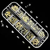 薄型メタルパーツ ゴールド240枚 ネイル&レジン用 12種類×各20個ケース入