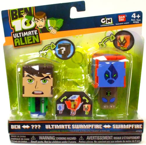 Buy Low Price Bandai Ben 10 Ultimate Alien AlterAlien 2.5 Inch Transforming Action Figures Ben to Amphibian Swampfire to Ultimate Swampfire (B003O5H5T2)