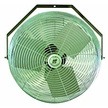 "TPI Corporation U18-TE Industrial Workstation Fan, Mountable, Single Phase, 18"" Diameter, 120 Volt"