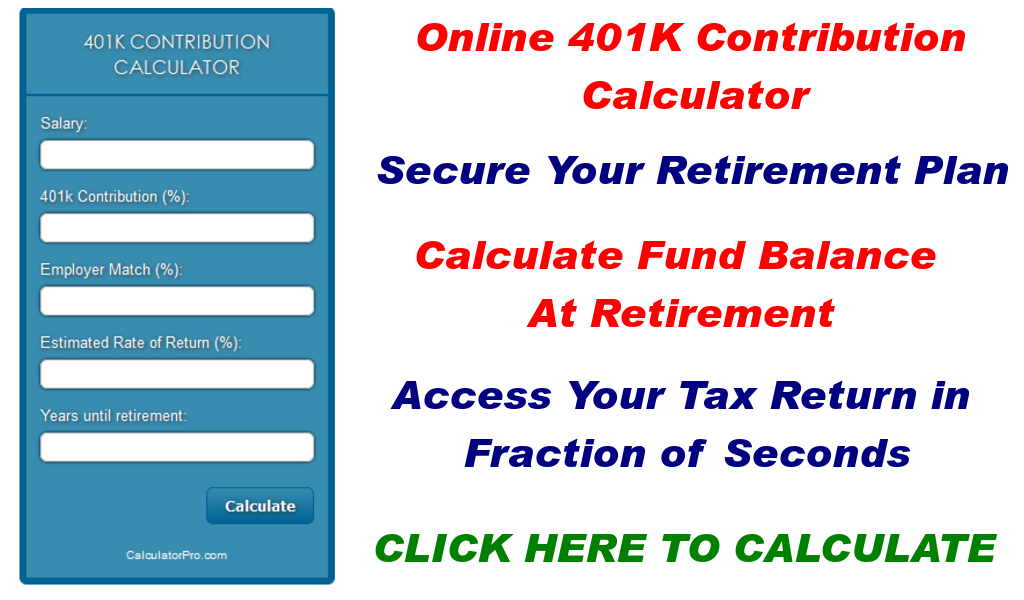 401k contribution calculator appstore for android for Online construction cost calculator