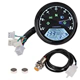 Sdootauto Digital Speedometer Tachometer, 199 KMH MPH 12000 RMP LCD Odometer for 4 Stroke 1/2/4 Cylinders Motorcycle for Honda Motorcycle Sctoor Golf Carts ATV