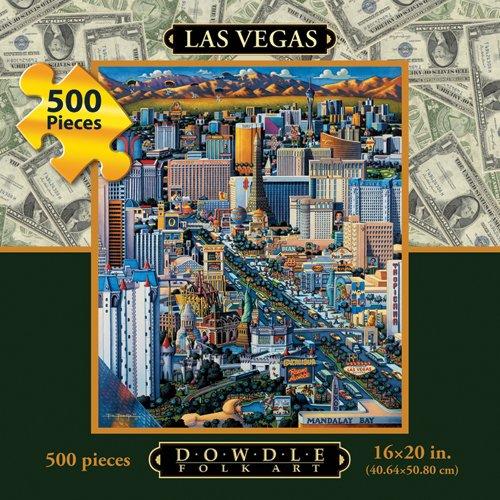 Cheap Dowdle Folk Art Las Vegas 500pc 16×20 Jigsaw Puzzle by Eric Dowdle (B004V0I5UW)