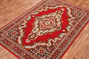 Traditional Red Medallion Rug 7 Sizes Available from The Rug House