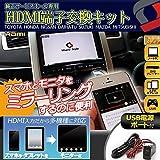 商品【 TOYOTA_A 】HDMI端子・USBポート付き純正サービスホール交換用 USBポートで充電が簡単接続!! HDMI端子をナビと接続でスマートフ...