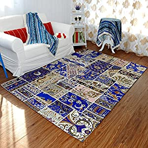 Ustide mediterranean area carpets delicate for Dining room rugs 5x7