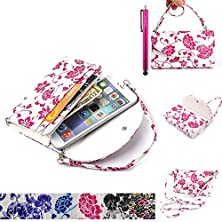 buy Lg G4 Mini Case, Jcmax [Gorgeous And Noble Style] High Quality Pu Leather Pocket Handbag [Card & Money Holder] With Blue & White Porcelain Graphic Flower Design Case For Lg G4 Mini - Red