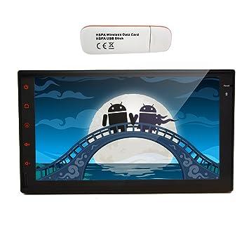 Doble 2 DIN modem 3G WiFi Dongle ršŠcepteur Android 4.2 Transmisor de Radio del coche de la Haba de jalea de 7 pulgadas Todos tš¢ctil capacitiva de la tableta automš¢tico de PC Double DIN EN VW Dash Navigation GPS Rad