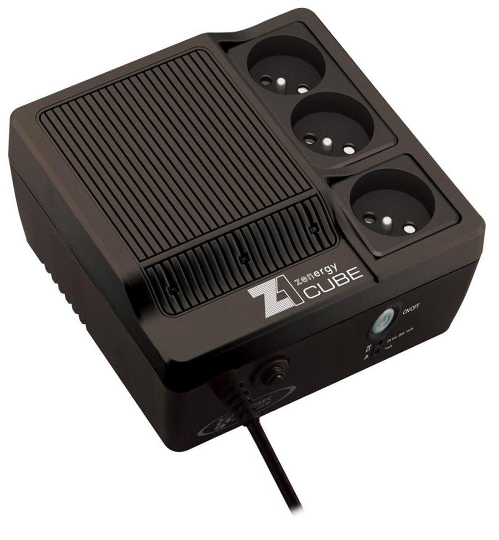 Ondulateur Back-UPS INFOSEC ZENERGY Z1 CUBE 65521 NOIR 600 VA