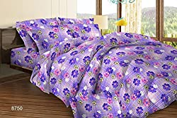 Bombay Dyeing Cynthia Double Bedsheet with 2 Pillow Covers - Lavender