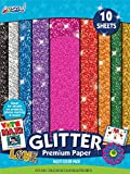 "ArtSkills Glitter Premium Paper, Assorted Colors, 9"" x 12"", 10 Pieces (PA-2575)"