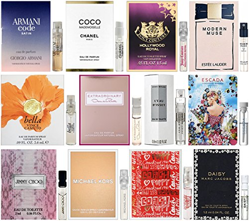 High-End-Designer-Fragrance-Sampler-for-Women-Lot-x-12-Perfume-Sample-Vials