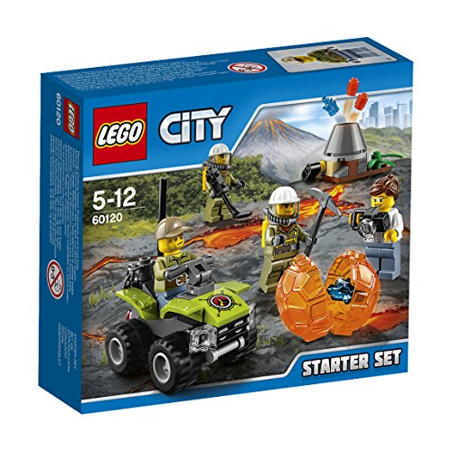 LEGO City 60120 - Set Costruzioni City Vulcano Starter Set Vulcano