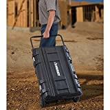 Husky 25 gal. Mobile Utility Work Cart for Tool Storage, Black (Color: Black, Tamaño: 35 in. / 25 gal.)