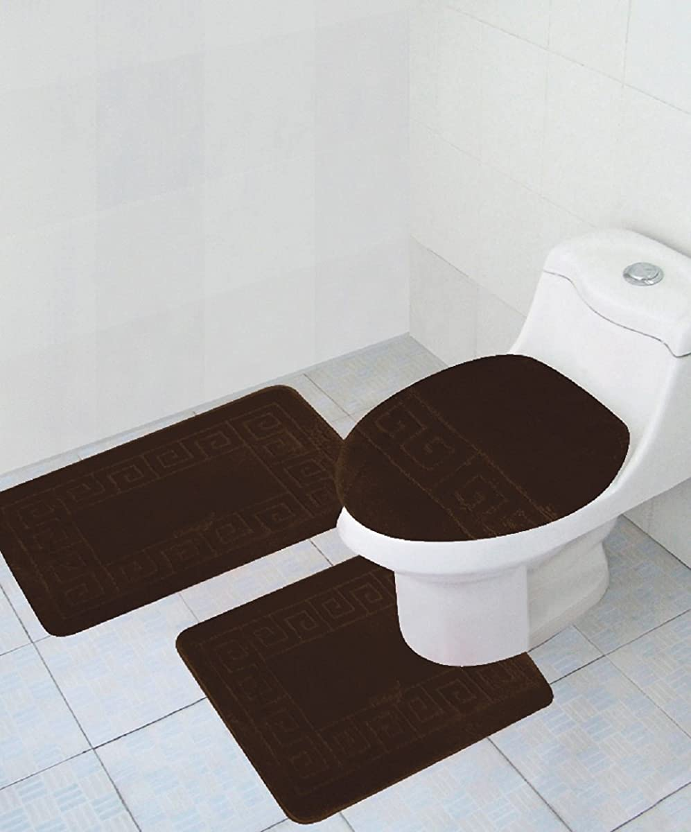 3 piece bath rug set pattern bathroom rug 20 x32 large for Bathroom pieces