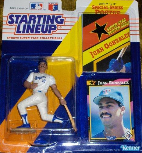 1992 MLB Starting Lineup - Juan Gonzalez - Texas Rangers