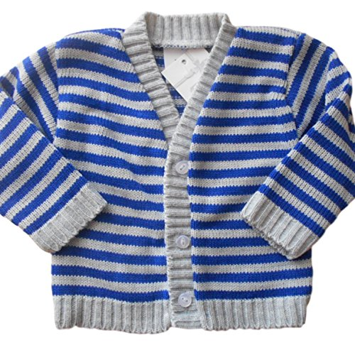 0-3-months-Baby-Boys-Gorgeous-Blue-and-Grey-Striped-Knitted-Cardigan