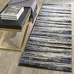 Safavieh Retro Collection RET2138-1165 Modern Abstract Cream and Blue Runner (2\'3\