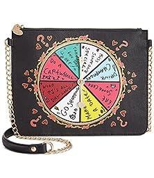 Betsey Johnson Kitch Spinner Spinner Shoulder Bag Clutch - Black