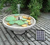 GBGS 1.5W Outdoor Solar Fountain Pump Waterfall Decorative Submersible Kit