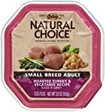 Natural Choice Small Breed Adult Roasted Turkey and Vegetable Recipe Slices in Gravy Dog Food Flex Tray, 3-1/2-Ounce, Pack of 24
