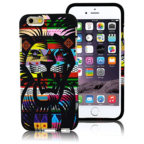 iPhone 6s/6 Case,LoTus Glow in the Dark Cute Cartoon Colorful Hybrid Fancy Lion Pattern Design Flexible Soft Rubber Protective Back Cover for iPhone 6s/6-with Small Gifts-Lion (Cool Glow For Iphone 4 compare prices)