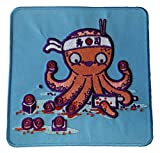 """""""Octosushi"""" Funny Japanese Octopus Chef Cutting Tentacles - Novelty Iron On Patch Applique"""